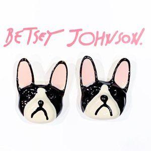 Betsey Johnson Gold - Toned Bulldog Stud Earrings